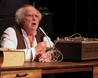 "Firehouse's production of ""Krapp's Last Tape"" stars Alan Sader."