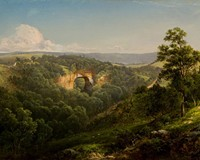 """Natural Bridge, Virginia,"" 1860, by David Johnson (American 1827–1908), oil on canvas."
