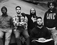 """Butcher Brown features Devonne """"DJ Harrison"""" Harris on keys, Andrew Randazzo on bass, Marcus """"Tennishu"""" Tenney on saxophone, trumpet and vocals, Corey Fonville on drums and Morgan Burrs on guitar."""