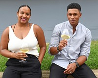 """RichWine co-founders Kristen Gardner and  Lance Lemon will pair their boutique  wines with tapas from private chef Emmanuel """"Manny"""" Baiden of Manny Eats on Friday, July 23 at Canvas Studios."""