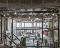 Construction of the Virginia Museum of History & Culture's new great hall.