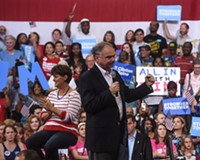 Tim Kaine Gets Hometown Reception at Monday Rally