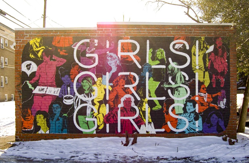 "Artist: Emily Herr (from Richmond); Location: Shepard Street; Ward Tefft says he didn't originally know what the message was behind Richmond muralist Emily Herr's work. But he learned from the interview in the book that she is out there organizing female artists in the boy's club world of muralists, using a mobile studio. - ""I have total respect and admiration for [her work] especially when I saw how she outfitted her van, did a multistate mural tour,"" he explains. ""A lot of her mission is to do this in support of other female artists. It's very inspiring. Every time I drive by her murals now around town, I'm totally stoked on them."" - PHOTO COURTESY ""MURALS OF RICHMOND"""