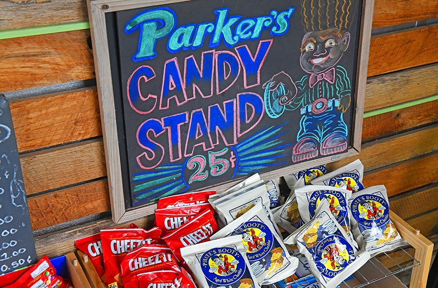 Brewer's son Parker has his own candy stand. - SCOTT ELMQUIST