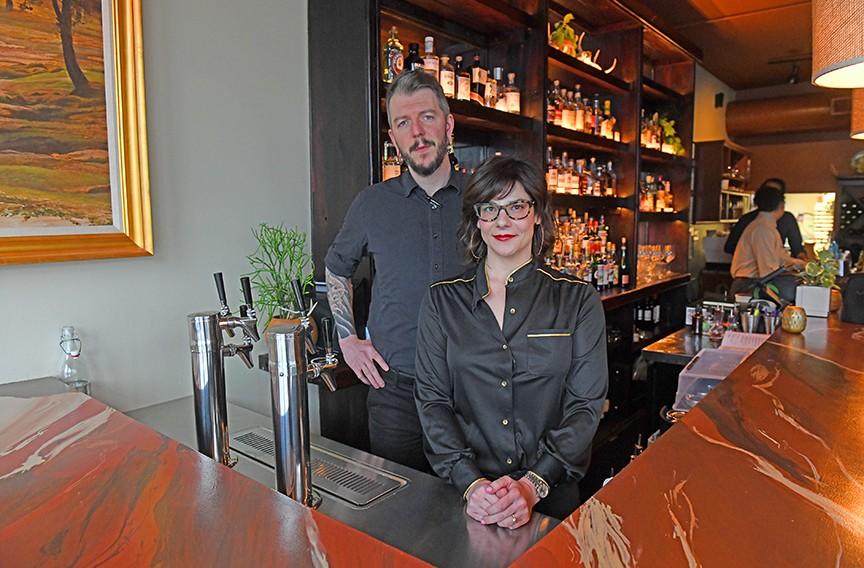 Chef Randall Doetzer and his wife, Lyne. - SCOTT ELMQUIST