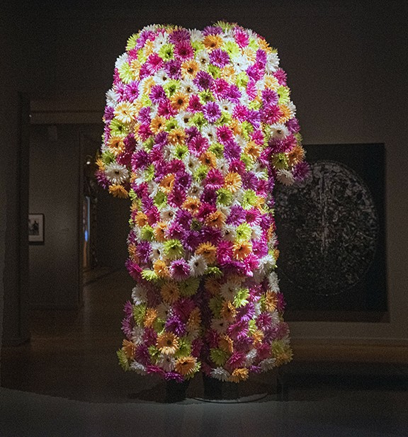 """The flower suit worn by CeeLo Green for the Nov. 11, 2015, performance of """"Music to My Soul"""" on the X Factor UK. - SCOTT ELMQUIST"""
