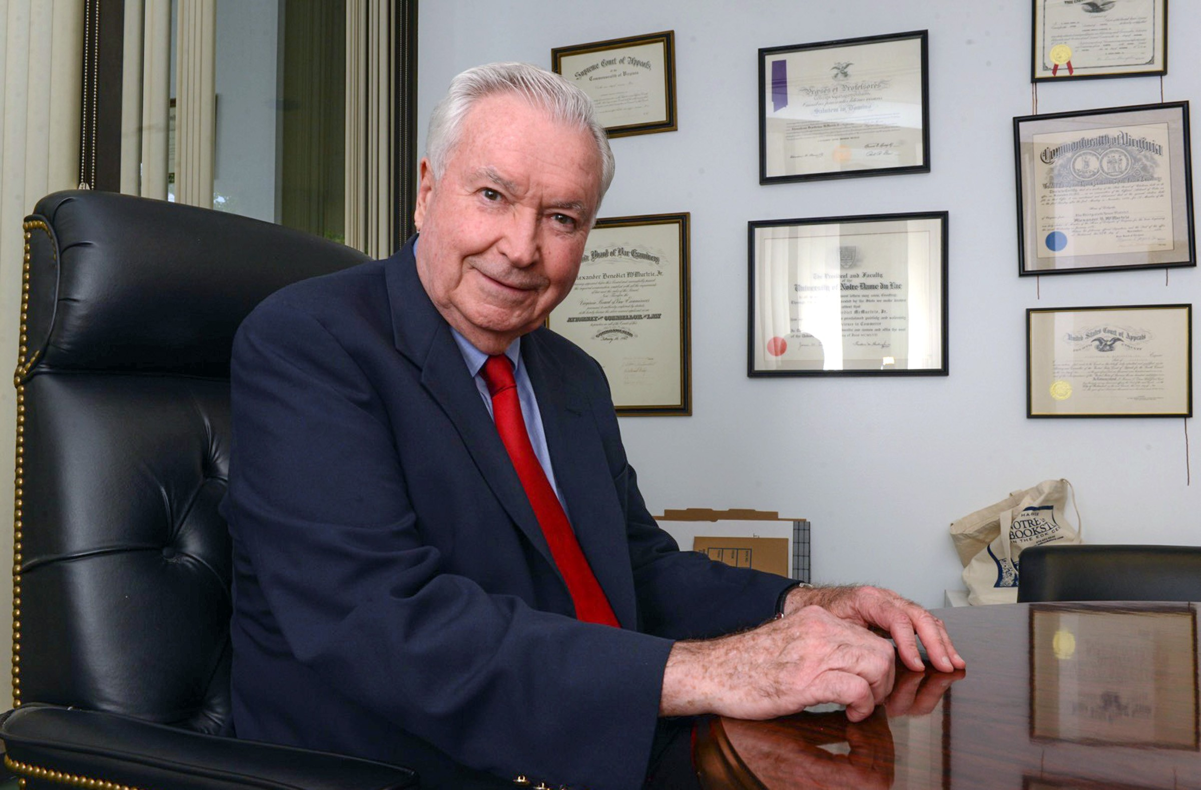 Candidate Alexander B. McMurtrie Jr., in his law office on Forest Hill Avenue, served as a state delegate in the 1970s and '80s. - SCOTT ELMQUIST