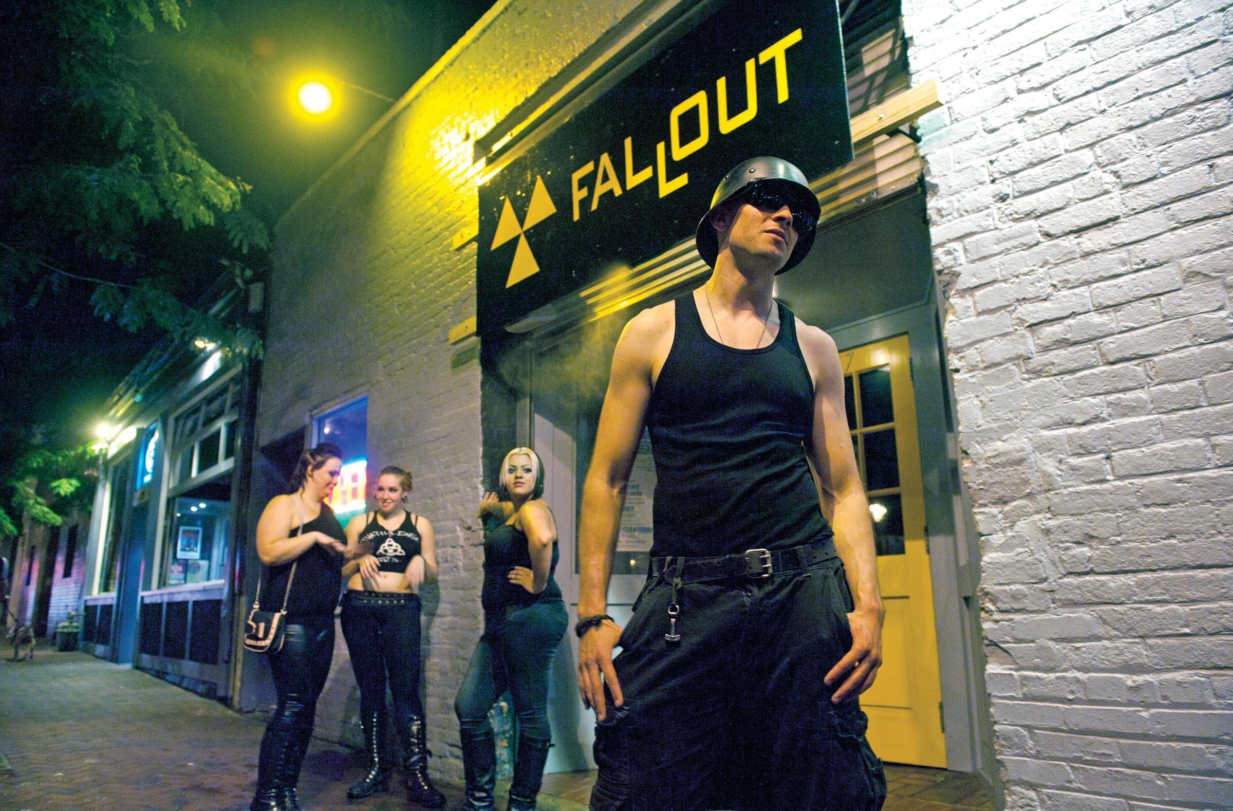 Regan Lodge enjoys a theme night at Fallout. - SCOTT ELMQUIST