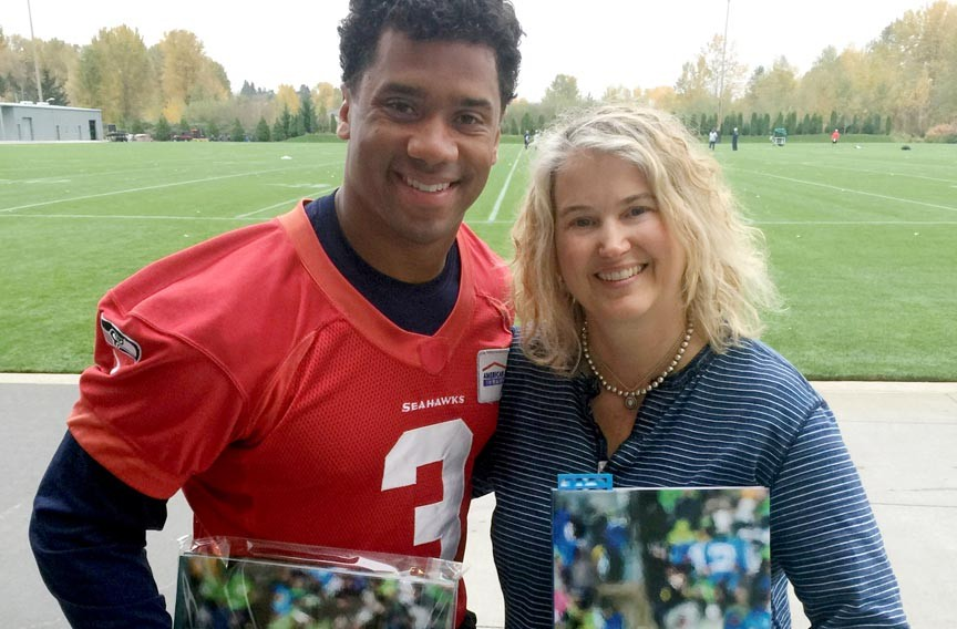 Layton pictured with another Richmond native, Seahawk quarterback and NFL superstar Russell Wilson. - ROBIN LAYTON
