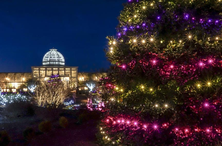 Event pick dominion gardenfest of lights night and day style weekly richmond va local for Lewis ginter botanical gardens christmas