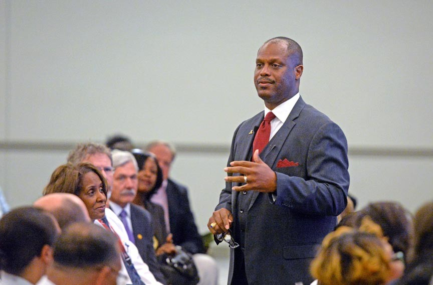 Superintendent Dana Bedden must lead the Richmond Public Schools while city officials grapple with how to pay for a massive plan to overhaul ailing buildings and solve overcrowding. - SCOTT ELMQUIST
