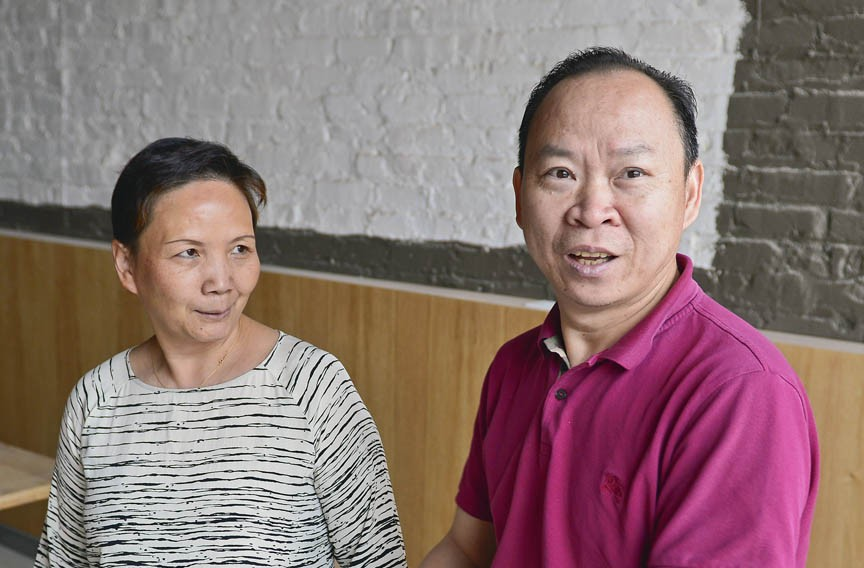 Peter Chang's wife, Lisa, is a pastry chef. They were both well-known, award-winning chefs in China, where Chang was the youngest master chef of Hubei province. The two met while working on a cruise ship. - ASH DANIEL