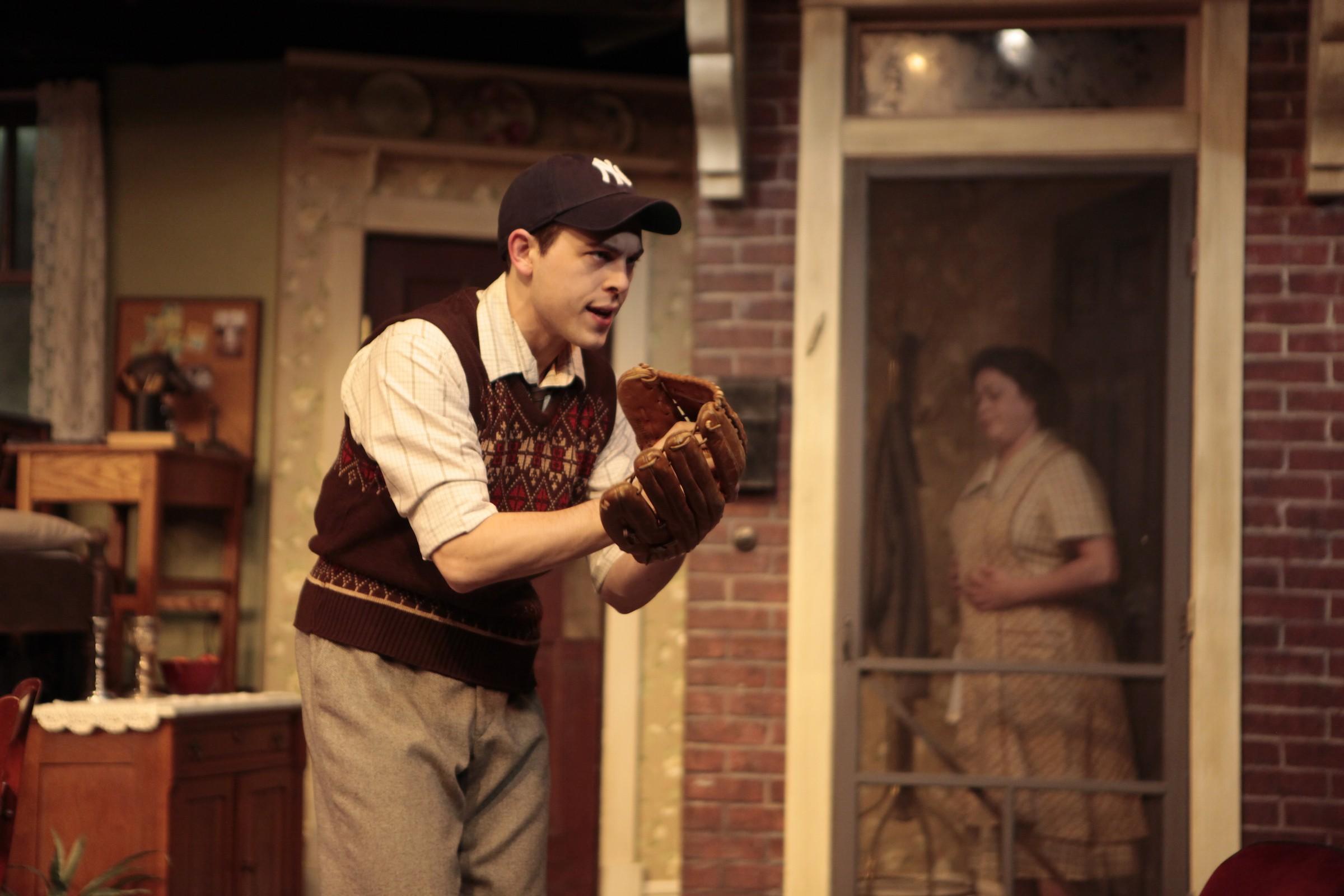 """Tyler Stevens as Eugene Jerome in Virginia Rep's """"Brighton Beach Memoirs."""""""