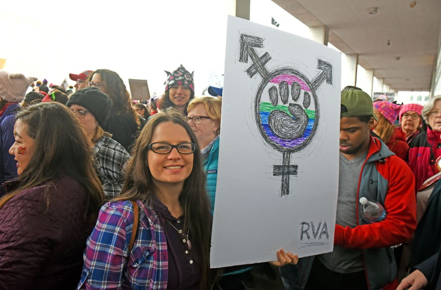 Kristin Dillard represents Richmond on her sign. - SCOTT ELMQUIST