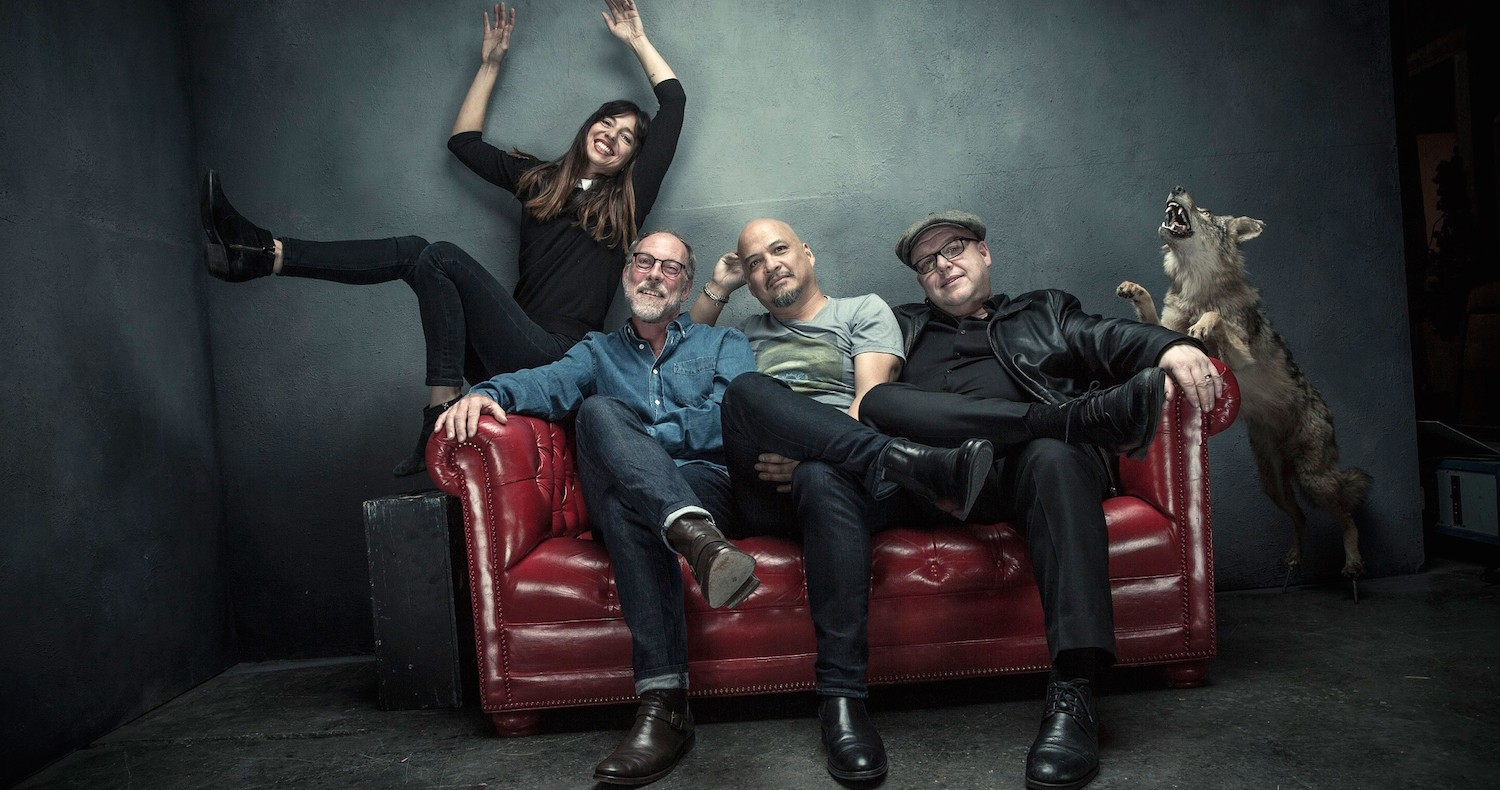The Pixies with new member Paz Lenchantin to the far left.