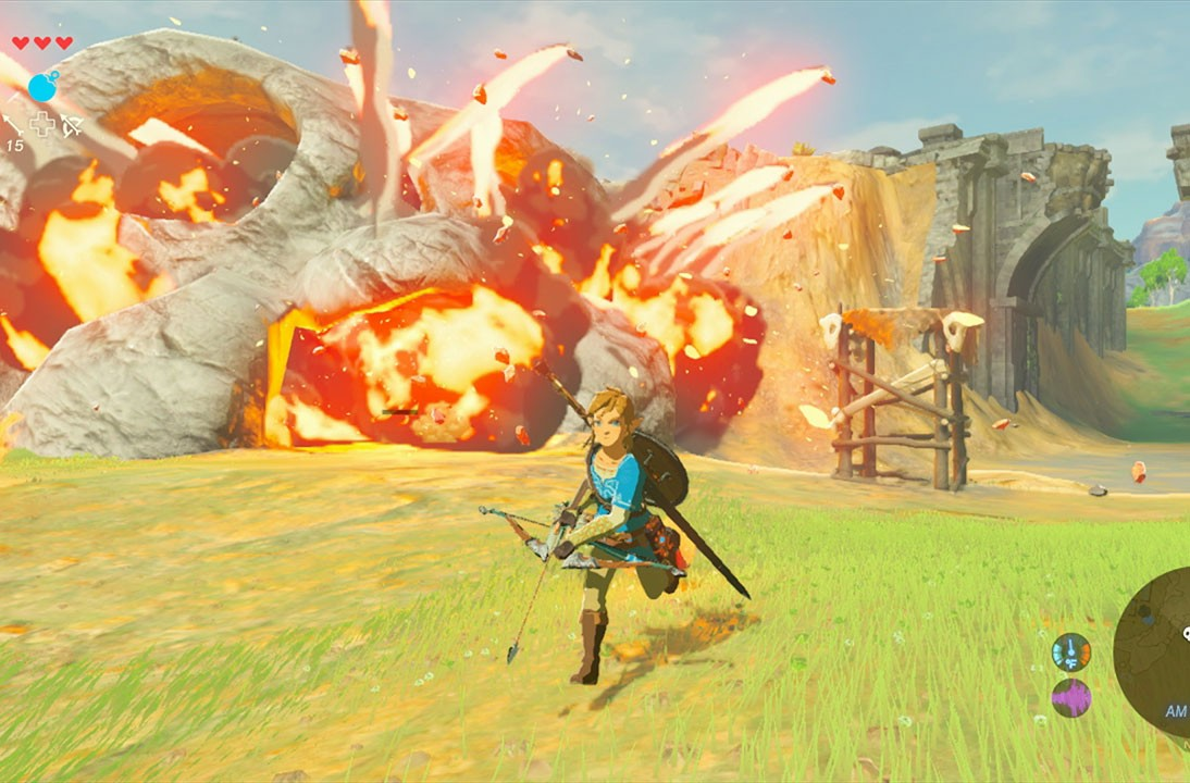 """""""The Legend of Zelda: Breath of the Wild"""" is available for the the new Switch console and the Wii U. - NINTENDO"""