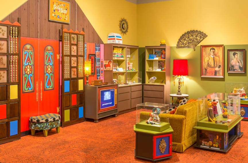 A vintage toy exhibit at virginia historical society for 70s apartment design