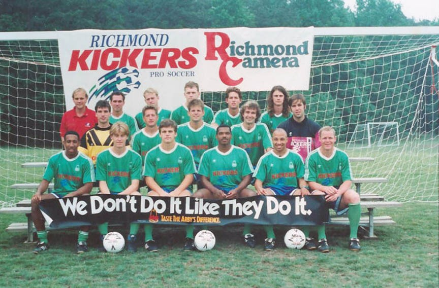 The original 1993 Richmond Kickers. - RICHMOND KICKERS