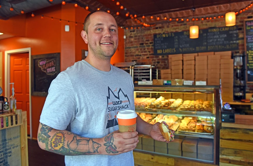 Ian Kelley began thinking about a coffee shop that also sold sandwiches, bagels and doughnuts in 2010, but when the first store opened in 2013, he discovered that customers only wanted his doughnuts — and lots of them. - SCOTT ELMQUIST