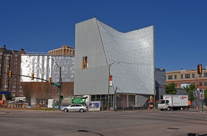 VCU's new Institute For Contemporary Art is still under construction. - SCOTT ELMQUIST
