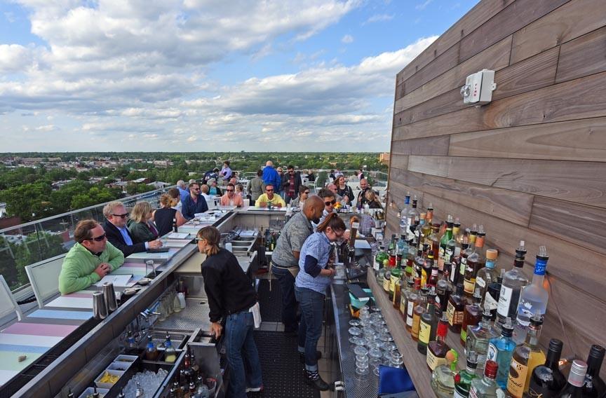 Quirk Hotel's rooftop bar. - SCOTT ELMQUIST