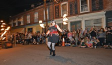 Gallery5's 14th anniversary for First Fridays and Party Liberation Front Circus Street Show