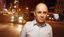 Todd Barry with Wendy Wroblewski at the Ashland Theatre