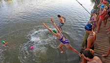 PHOTOS: Trinity Episcopal Students Swim to School