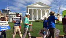 Activists Protest Gov. McAuliffe's Environmental Policies, Perceived Coziness With Dominion