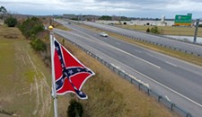 Virginia Flaggers Raise New Confederate Flag Near Toll Plaza