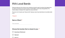 Local Promoters Seeking To Compile RVA Band List