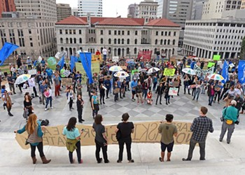 PHOTOS: Environmental Protest Ends in Arrests at Virginia State Capitol
