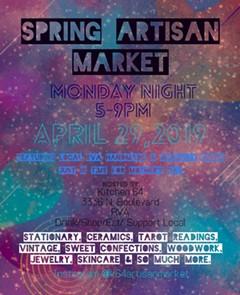 Flyer for Kitchen64 spring artisan market - Uploaded by K64artisanmarket
