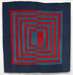 """""""Housetop"""" - fractured medallion variation, 1977, Rita Mae Pettway (American, born 1941), corduroy. Virginia Museum of Fine Arts, Adolph D. and Wilkins C. Williams Fund and partial gift of the Souls Grown Deep Foundation from the William S. Arnett Collection, 2018.73 - Uploaded by VMFACommunications"""