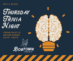 Thursday Night Trivia at Dogtown Brewing Co - Uploaded by sarahpentecost