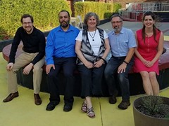 Meet Heavy Shtetl! Peter Sims, Malik Riley, Marcy Horwitz, Bruce Gould and Jessica Sims all look forward to seeing you soon! - Uploaded by BG