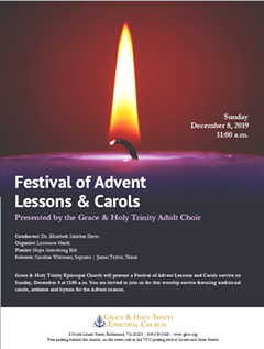 Lessons & Carols Flyer - Uploaded by GHTCadmin