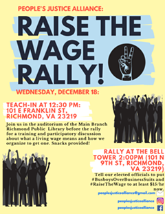 Join us for a rally in support of raising the min. wage to at least $15 here in the Commonwealth. - Uploaded by Naomi Isaac