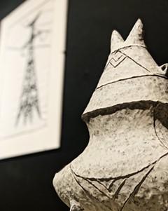 Candice Methe, Wing Tip Jar (detail), handbuilt, black stoneware with slips/terra sigillata - Uploaded by KathrynHC