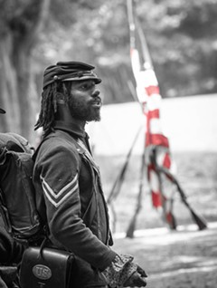 Civil War reenactor at Fort Pocahontas. - Uploaded by FortPocahontas