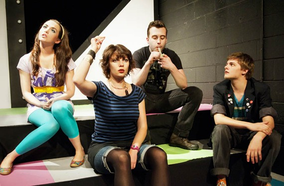 """Um, has anyone here seen 'The Breakfast Club'?"" Courtney McCotter, Kerry McGee, Alexander Gerber and Joe Winters get a well-rounded education in ""Stupid Kids."" - JOHN MACLELLAN PHOTOS & DESIGN"