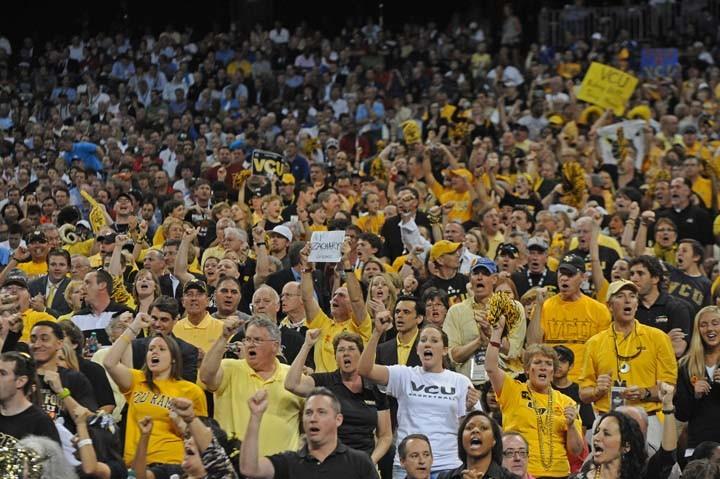 VCU fans cheer until the end. - SCOTT ELMQUIST