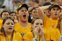 VCU fans face their Cinderella team's impending loss. - SCOTT ELMQUIST