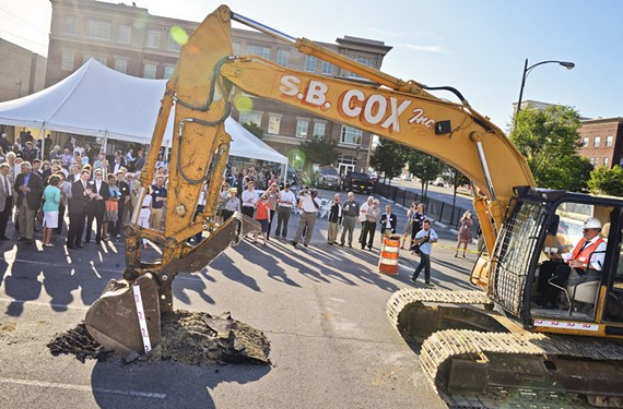 VCU School of the Arts dean Joe Seipel breaks ground on June 3 at the location of the university's Institute for Contemporary Art, which is scheduled to be completed in winter 2016.