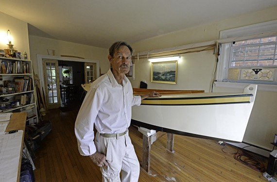 Verlon Vrana built a boat in his living room because his bedroom was too small.