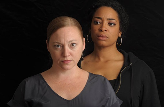 """Veteran local actors Laine Satterfield (left) and Katrinah Carol Lewis star in the play """"Gidion's Knot"""" directed by Keri Wormald and presented by Carol Piersol. - ERIC DOBBS"""