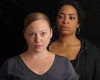 """Veteran local actors Laine Satterfield (left) and Katrinah Carol Lewis star in the play """"Gidion's Knot"""" directed by Keri Wormald and presented by Carol Piersol."""