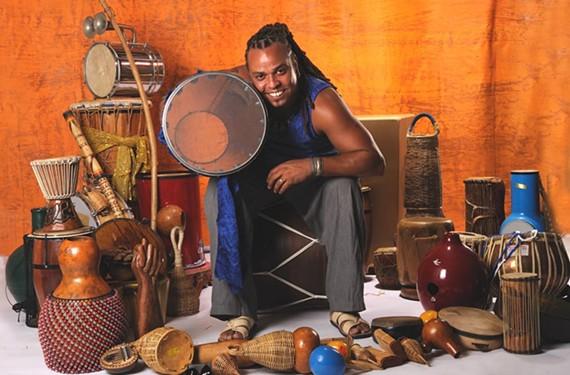"Veteran percussionist Jailton ""Dendê"" Macedo of Dendê."
