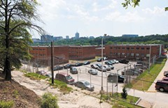 Viewed from the bluff, the old city jail on Fairfield Way will be demolished under the mayor's plan. The new jail is projected to cost $116.6 million and open in 2014. - SCOTT ELMQUIST