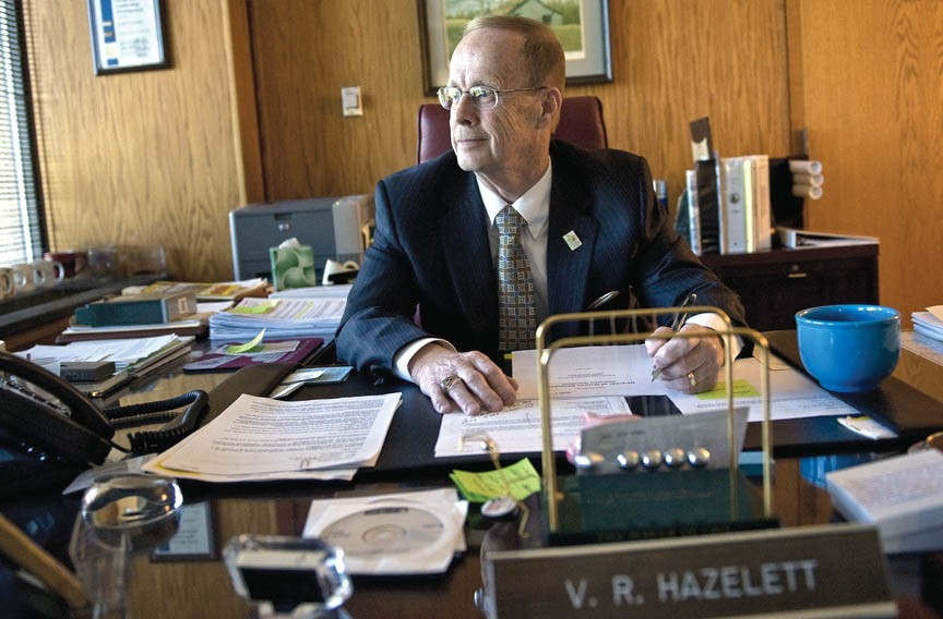Virgil Hazelett in his Henrico County office. - ASH DANIEL
